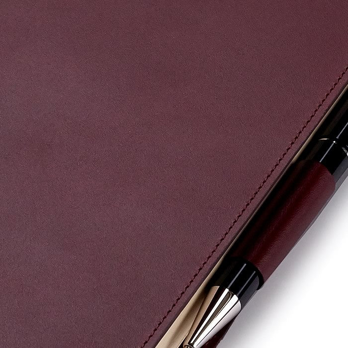 Leather Refillable Journal in Burgundy
