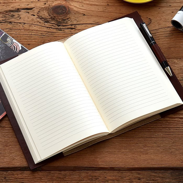 Leather Refillable Journal in Chocolate-ANTORINI®