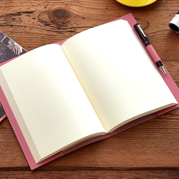 Leather Refillable Journal in Pink Saffiano-ANTORINI®