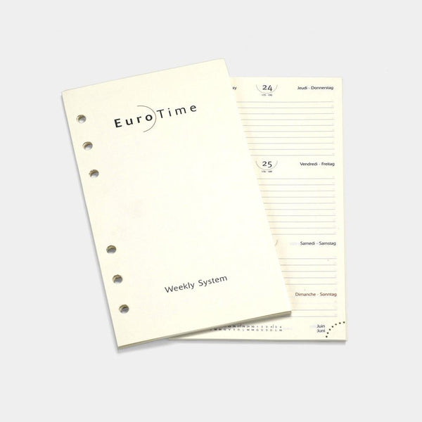 A6 Week On Two Pages Diary Personal 2021, 7 languages-ANTORINI®