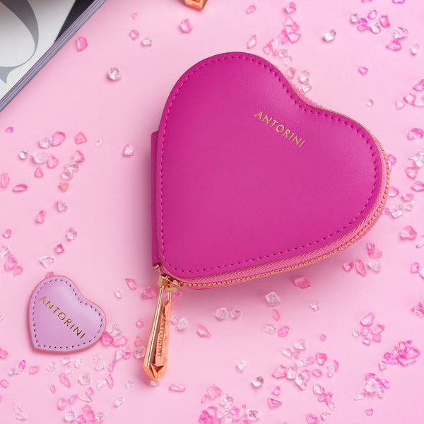 Pink Heart Coin Purse