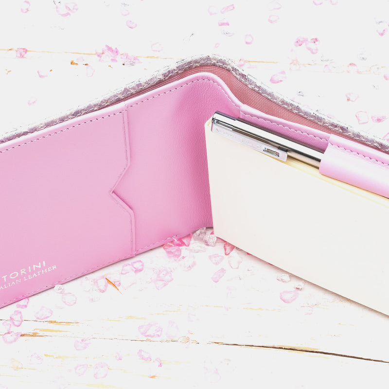 Pocket Memo Pad in Silver and Lilac-ANTORINI®