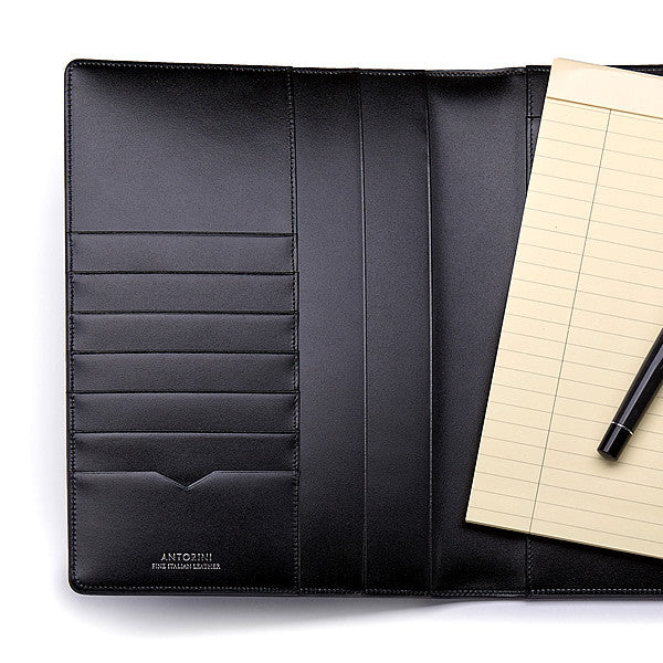 Leather A5 Padfolio in Satin with Note Pad-ANTORINI®