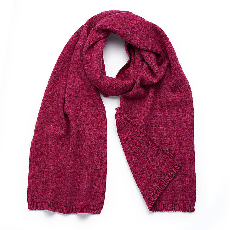 Cashmere Scarf in Berry