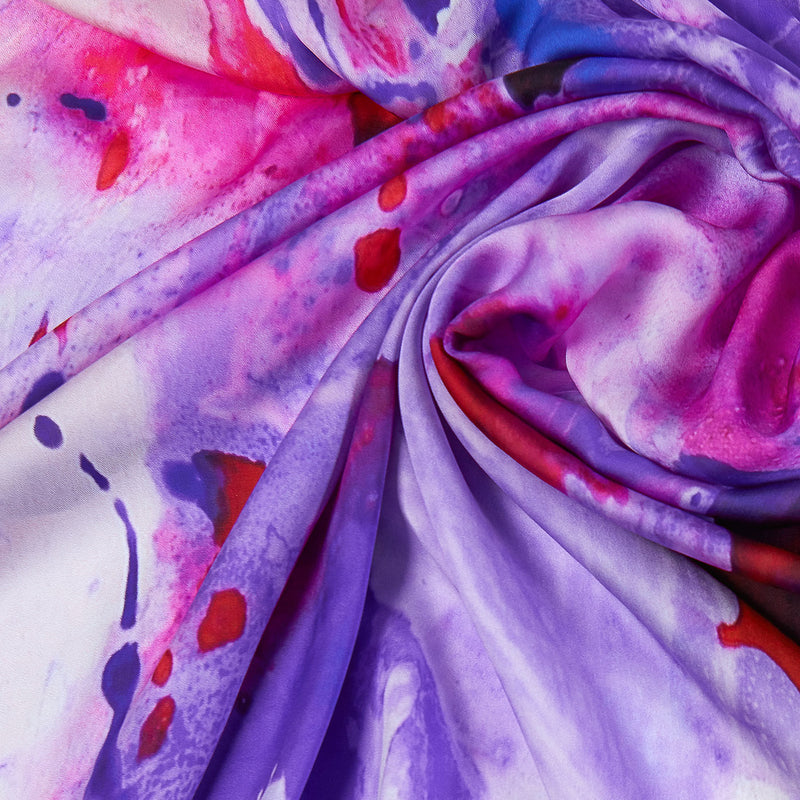 Purple Haze Silk Scarf, 140 cm-ANTORINI®
