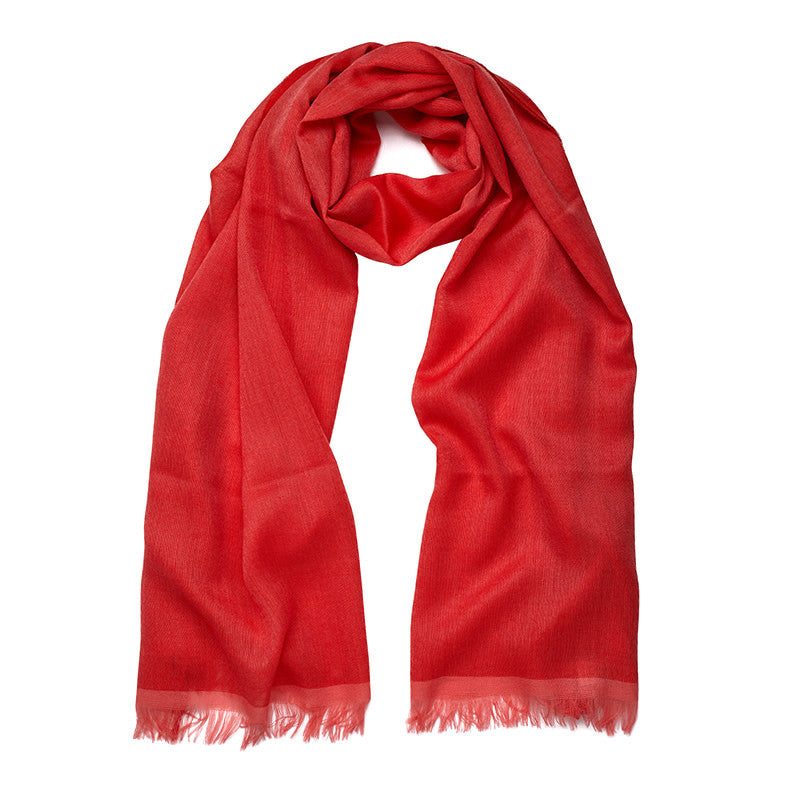 Light Cashmere Scarf in Tomato