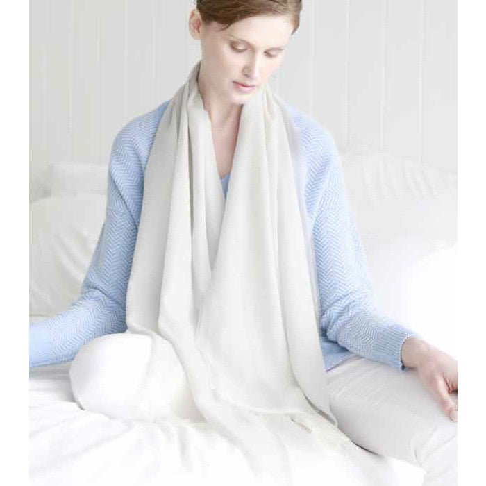 Merino Wool Scarf in White