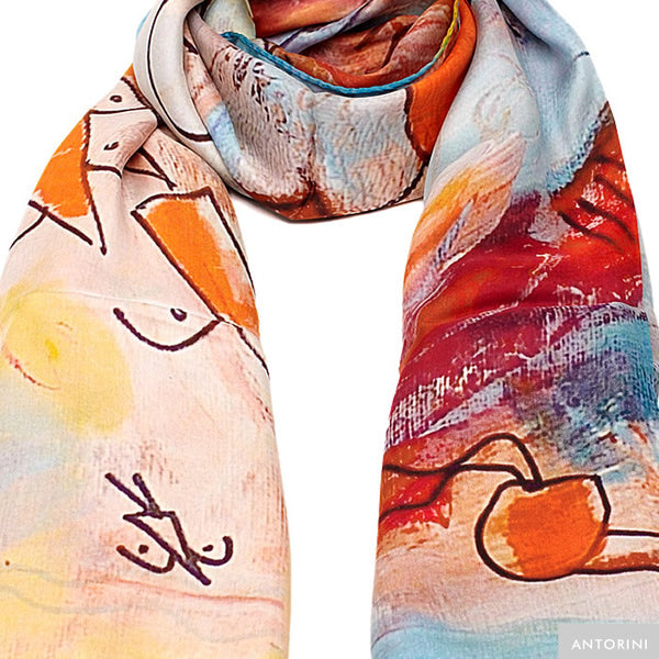 Silk Scarf in Colourful Shades