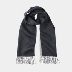 Men's Cashmere Scarf in Dark and Light Grey-ANTORINI®
