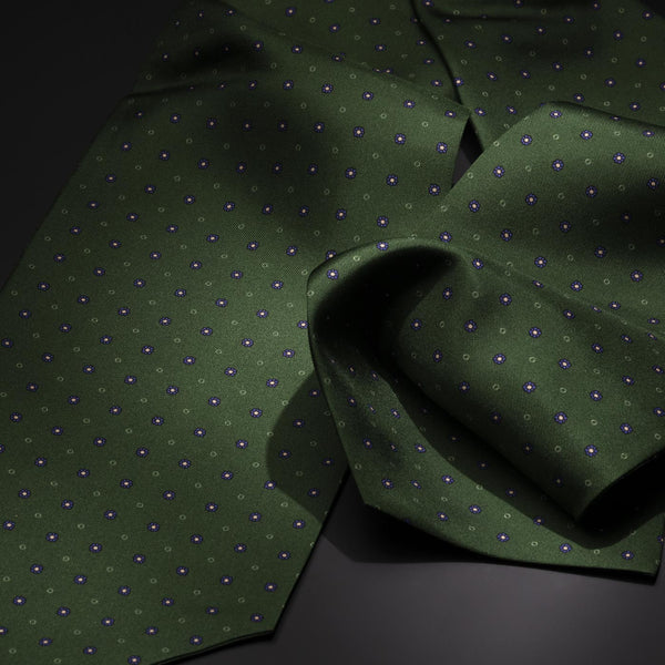 Silk Ascot Tie, Green-ANTORINI®