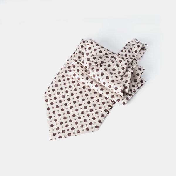 Silk Ascot Tie, Cream-ANTORINI®