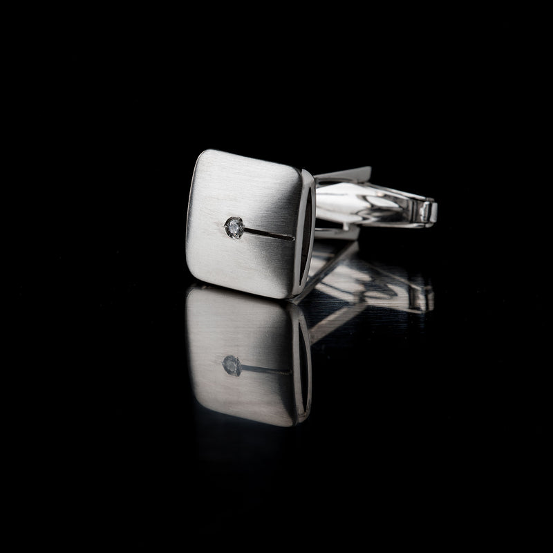 Men's Square Silver Cufflinks, 925/1000, 12 g-ANTORINI®
