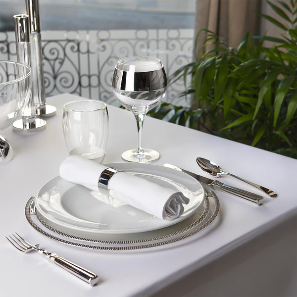 Set of Wine Glasses Decorated With Silver-plated Aplication-ANTORINI®