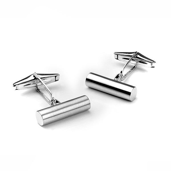 Mens Silver Cufflinks in oval