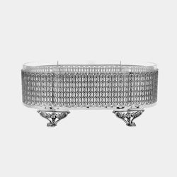 Silver Plated Bowl, Floral-ANTORINI®