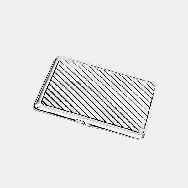 Metal Business Card Holder, Silver-Plated-ANTORINI®