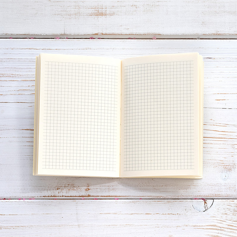 Slim Leather Pocket Diary in Silver and Ivory