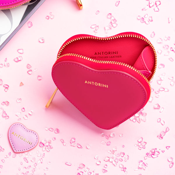 Heart Coin Purse ANTORINI in Fuchsia