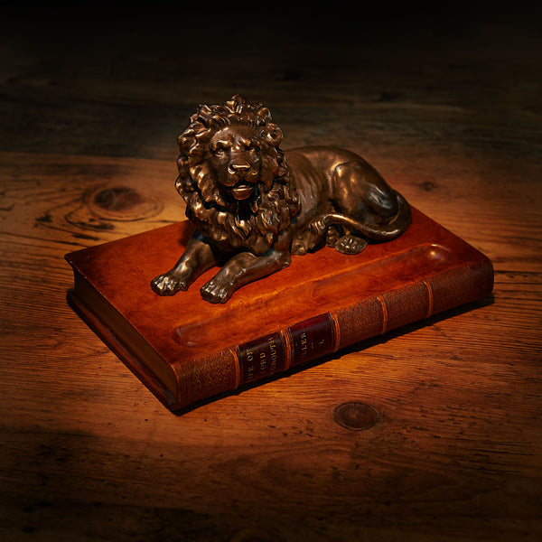 Pen Holder with Bronzed Lion-ANTORINI®