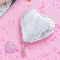 ANTORINI Heart Coin Purse, White