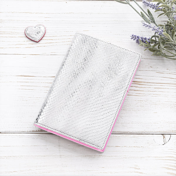 Luxury Ladies A6 Agenda/Journal in Silver and Lilac-ANTORINI®