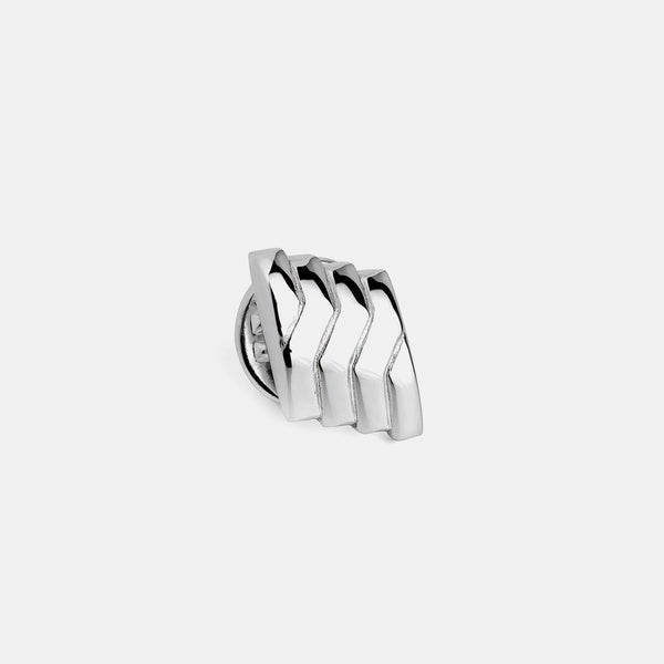 Lapel Pin Linea, Sterling Silver, 925/1000, 4 g-ANTORINI®