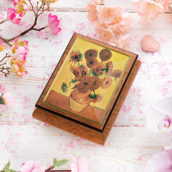 "Music Jewellery Box with Motive of ""Sunflowers""-ANTORINI®"