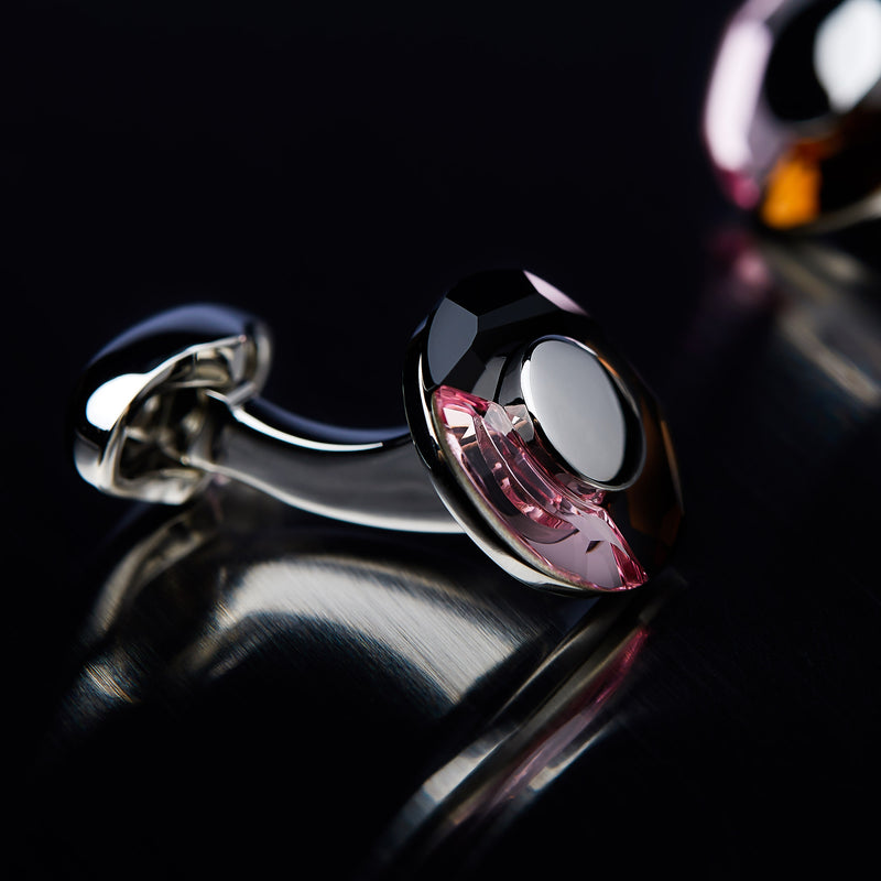 Men's Cufflinks Tre Colore with Swarovski Crystals-ANTORINI®