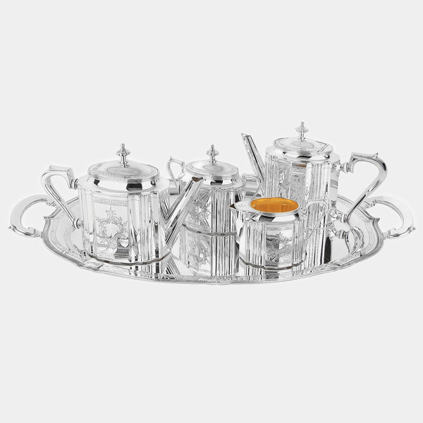 Silver English Tea and Coffee Set, silver 925/1000, 5255 g-ANTORINI®