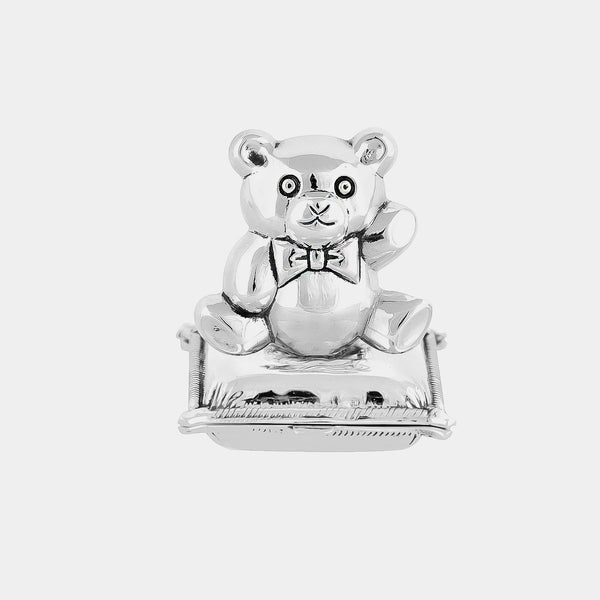 Teddy Bear Tooth / Hair Keepsake Box, Silver 925/1000, 32 g-ANTORINI®