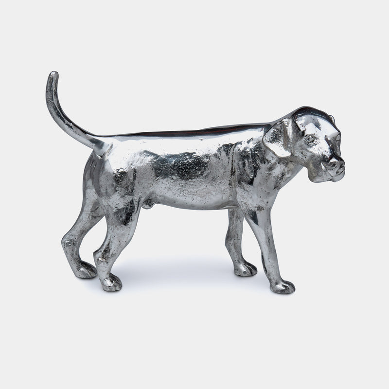 Fox Hound Dog Paperweight, Silver Plated-ANTORINI®