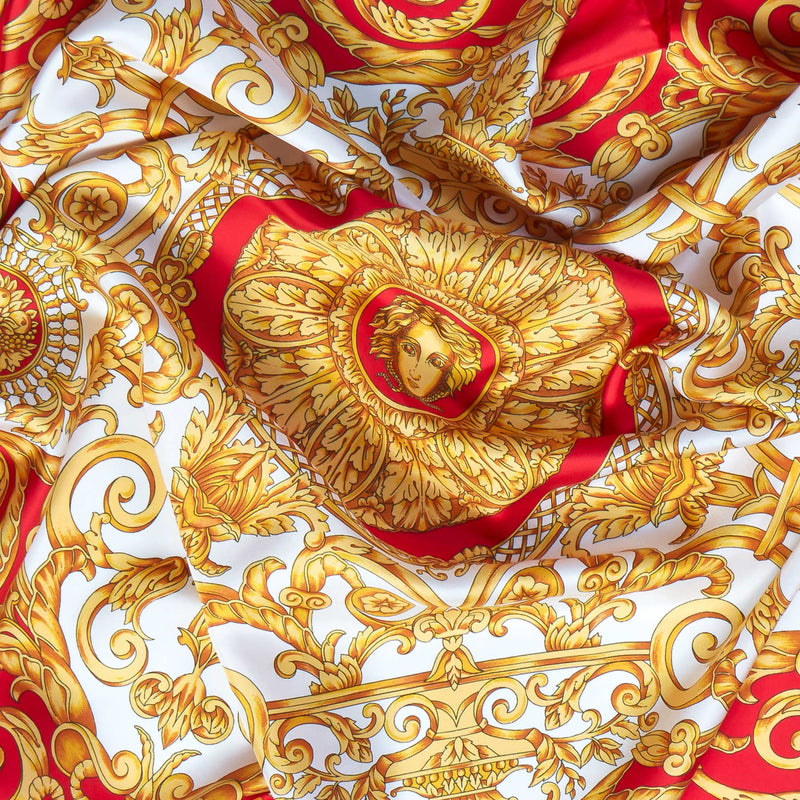 Vintage Silk Scarf in Red-ANTORINI®