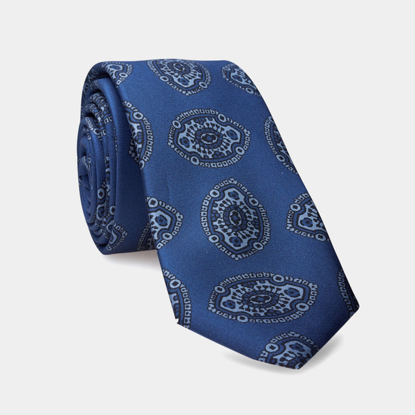 Italian Vintage Silk Tie in Blue-ANTORINI®