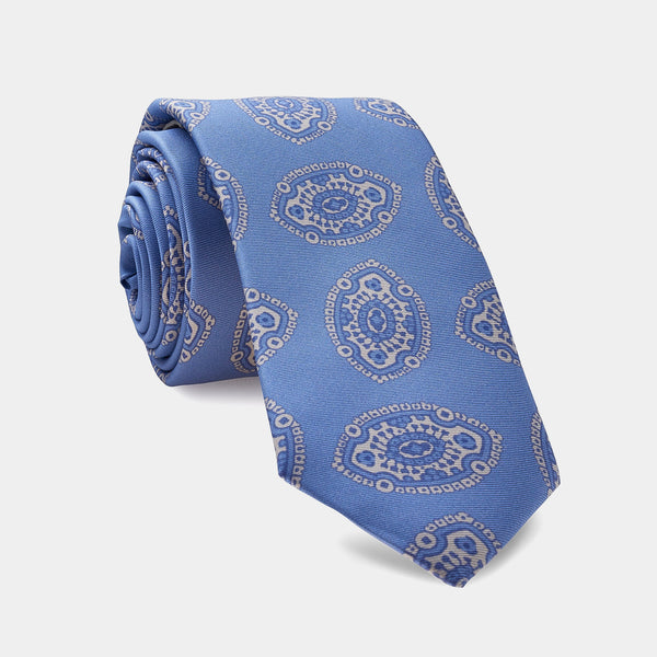 Italian Vintage Silk Tie in Light Blue-ANTORINI®