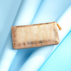 Luxurious Ladies ANTORINI Couture Leather Purse in Gold & Coral Red