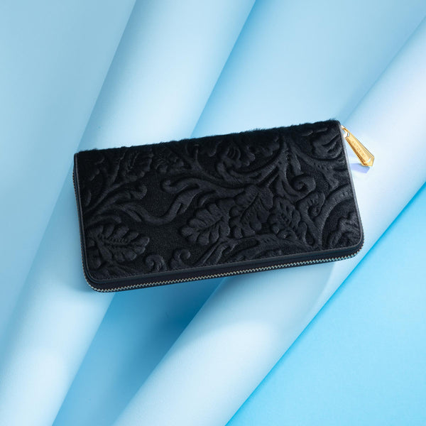 Ladies' Purse With a Flower Pattern ANTORINI Couture Baroque