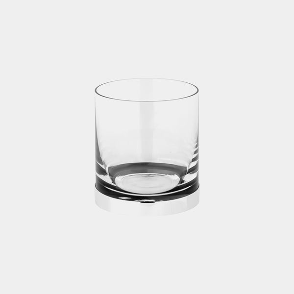 Whisky Glass with Silver Bottom, silver 925/1000, 20 g-ANTORINI®