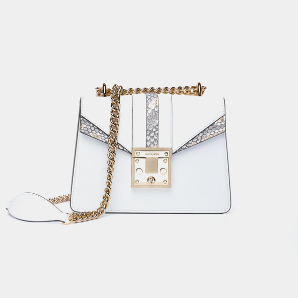LUXURIOUS HANDBAG ANTORINI CHANTAL, WHITE-ANTORINI®