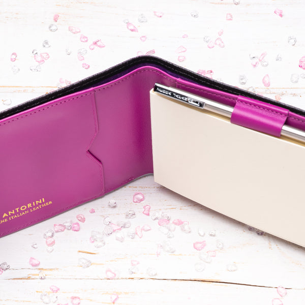 Pocket Memo Pad in Black Lizard and Purple-ANTORINI®