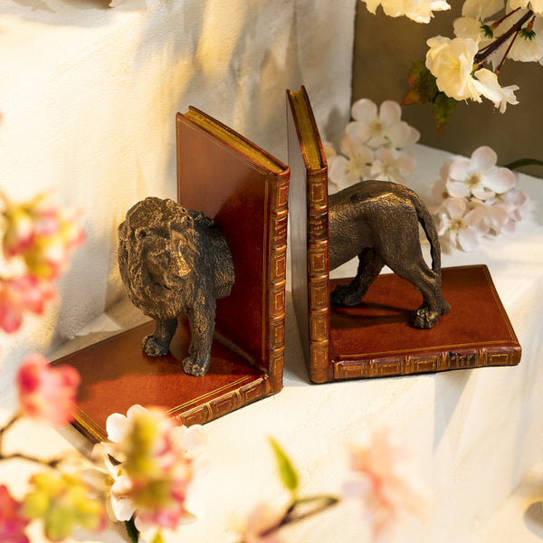 Pair of Lion Bookends-ANTORINI®