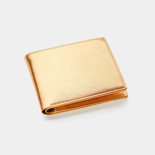 Men's Wallet  ANTORINI in Gold Saffiano