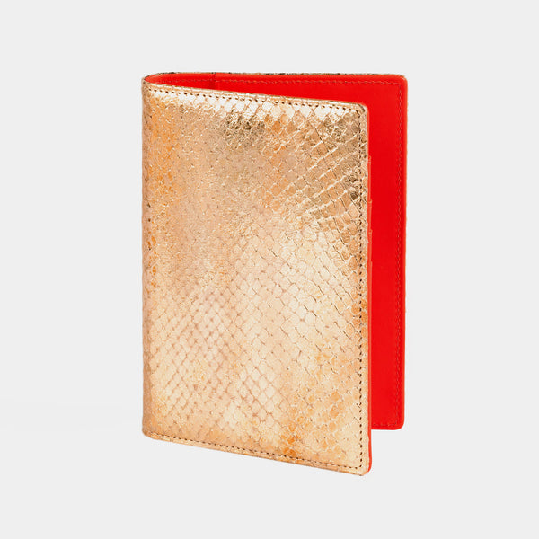 Passport Holder in Gold and Red-ANTORINI®