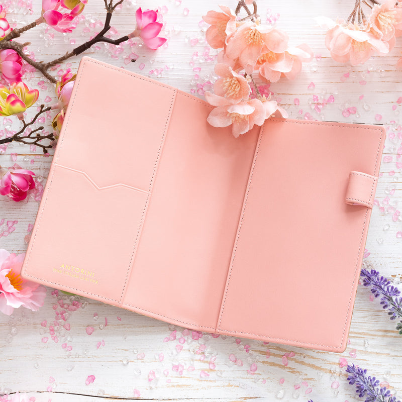 Luxury A6 Ladies Diary & Journal in Gold and Pink-ANTORINI®