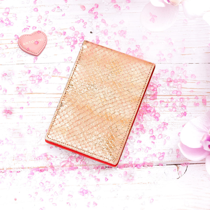 Pocket Memo Pad in Gold and Red-ANTORINI®