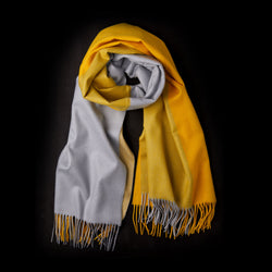 Cashmere Scarf in Yellow and Grey-ANTORINI®