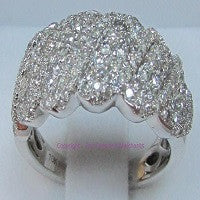 RINGS LADIES 10KT WHITE GOLD HIGH QUALITY DIAMOND BAND