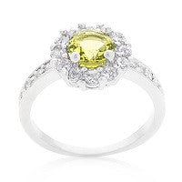 RINGS LADIES BELLA BIRTHSTONE ENGAGEMENT CITRINE YELLOW