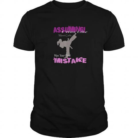 Assuming I was like most girls was your first mistake mens t shirt Lees krazy tees t-shirts Lees krazy tees - Lees krazy tees