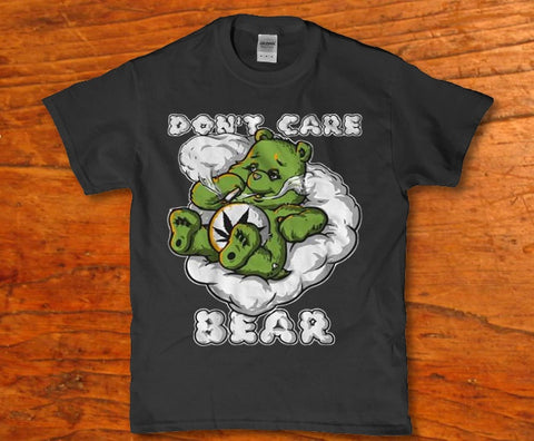 Don't care party bear pot weed smoking funny adult 420 Men's t-shirt Lees krazy tees penn Lees krazy tees - Lees krazy tees