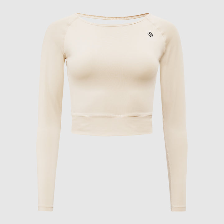 Cropped Longsleeve V-Back Top
